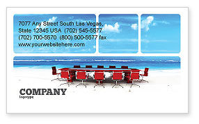 Business Concepts: Conference Meeting Business Card Template #05709