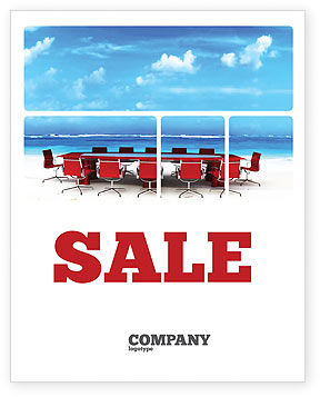 Conference Meeting Sale Poster Template, 05709, Business Concepts — PoweredTemplate.com