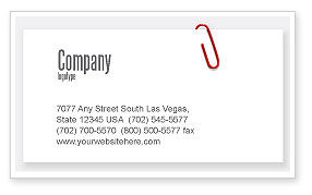 Paperclip Business Card Template