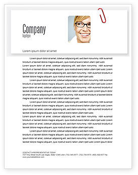 Business: Paperclip Letterhead Template #05715