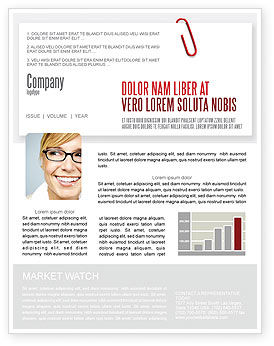 Business: Paperclip Newsletter Template #05715