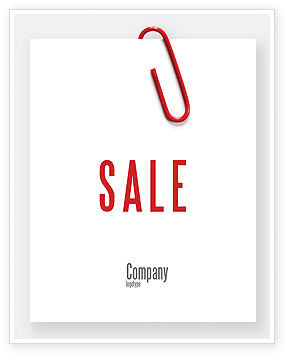 Business: Paperclip Sale Poster Template #05715