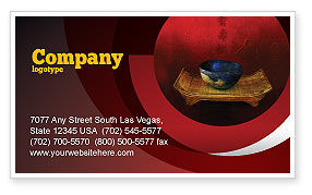 Art & Entertainment: Chinese Bowl Business Card Template #05716
