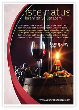 Food & Beverage: Wine Bottle Ad Template #05719