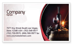 Wine Bottle Business Card Template