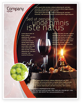Wine bottle flyer template background in microsoft word for Wine brochure template