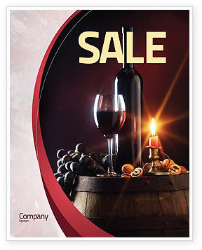 Food & Beverage: Wine Bottle Sale Poster Template #05719