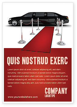 Art & Entertainment: Limousine Advertentie Template #05720