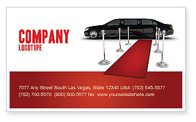 Art & Entertainment: Limousine Business Card Template #05720