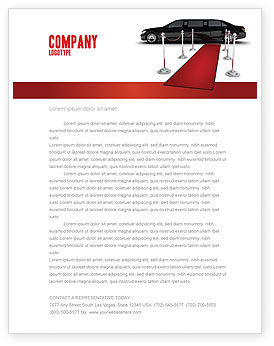 Art & Entertainment: Limousine Letterhead Template #05720