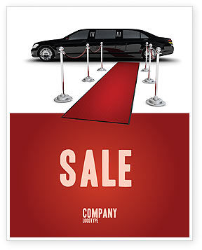 Art & Entertainment: Limousine Sale Poster Template #05720