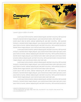 Transworld Logistics Letterhead Template, 05722, Cars/Transportation — PoweredTemplate.com