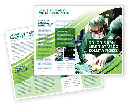 Anesthesia In Surgery Brochure Template