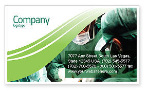 Medical: Anesthesia In Surgery Business Card Template #05727