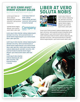 Medical: Anesthesia In Surgery Flyer Template #05727