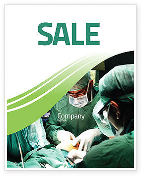 Anesthesia In Surgery Sale Poster Template, 05727, Medical — PoweredTemplate.com