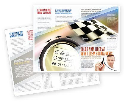 Stopwatch Brochure Template, 05729, Sports — PoweredTemplate.com