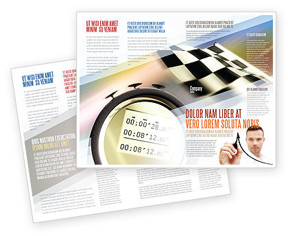 Sports: Stopwatch Brochure Template #05729