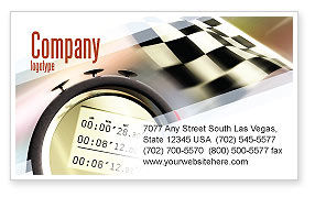 Sports: Stopwatch Business Card Template #05729