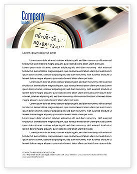 Sports: Stopwatch Letterhead Template #05729