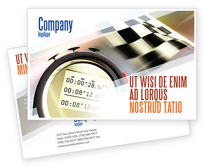 Stopwatch Postcard Template, 05729, Sports — PoweredTemplate.com