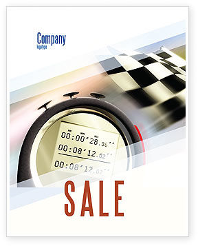 Stopwatch Sale Poster Template, 05729, Sports — PoweredTemplate.com