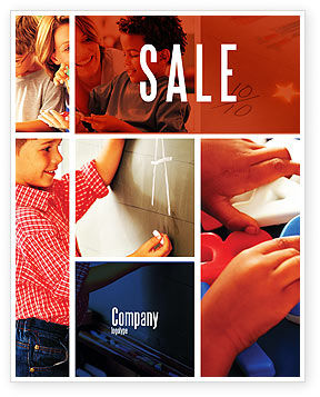 Primary School Sale Poster Template, 05730, Education & Training — PoweredTemplate.com
