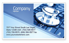Technology, Science & Computers: Medical Records In Electronic Form Business Card Template #05733