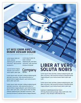 medical records in electronic form flyer template background in