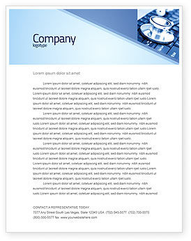 Medical Records In Electronic Form Letterhead Template, 05733, Technology, Science & Computers — PoweredTemplate.com