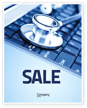 Technology, Science & Computers: Medical Records In Electronic Form Sale Poster Template #05733