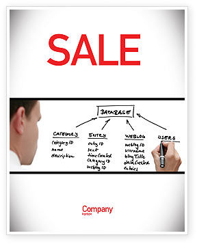 Database Sale Poster Template, 05734, Technology, Science & Computers — PoweredTemplate.com