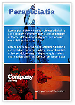 Art & Entertainment: Superheroes Ad Template #05738