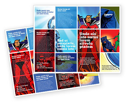 Superheroes Brochure Template