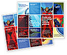 Art & Entertainment: Superheroes Brochure Template #05738