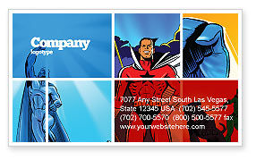 Superheroes Business Card Template