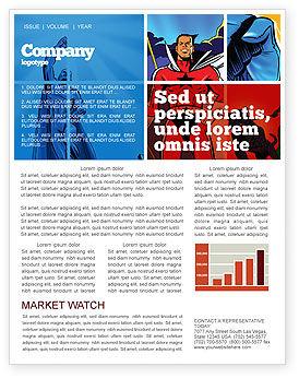 Art & Entertainment: Superheroes Newsletter Template #05738