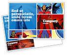 Art & Entertainment: Superhelden Postkarte Vorlage #05738