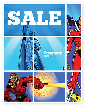 Art & Entertainment: Superheroes Sale Poster Template #05738