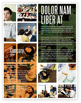 Education & Training: University Study Flyer Template #05743