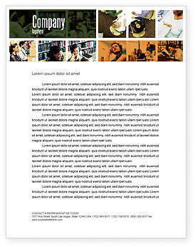 University Study Letterhead Template, 05743, Education & Training — PoweredTemplate.com