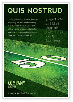Sports: American Football Field Ad Template #05744