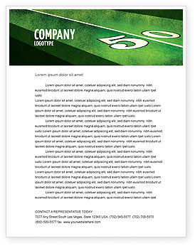Sports: American Football Field Letterhead Template #05744