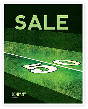 American Football Field Sale Poster Template, 05744, Sports — PoweredTemplate.com