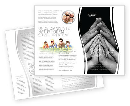 Family Harmony Brochure Template, 05745, Religious/Spiritual — PoweredTemplate.com