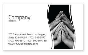 Family Harmony Business Card Template, 05745, Religious/Spiritual — PoweredTemplate.com