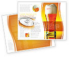 Food & Beverage: Goblet Of Beer Foaming Brochure Template #05748