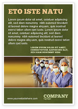 Medical: Medical Personnel In Hospital Ad Template #05749