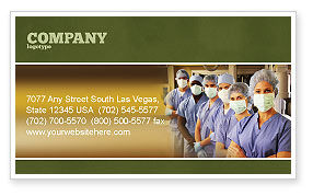 Medical Personnel In Hospital Business Card Template, 05749, Medical — PoweredTemplate.com