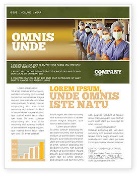 Medical: Medical Personnel In Hospital Newsletter Template #05749